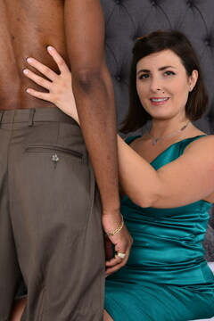 Hot hairy MILF goes interracial